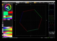 Zeichenfläche des Animation Editors - hier werden die Lasershows gezeichnet